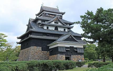 松江市の観光地、松江城
